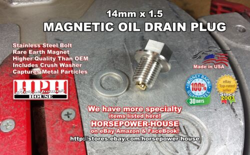 14mm MAGNETIC SUMP DRAIN PLUG for TRIUMPH MOTORCYCLE SPEEDMASTER SPEED TRIPLE +