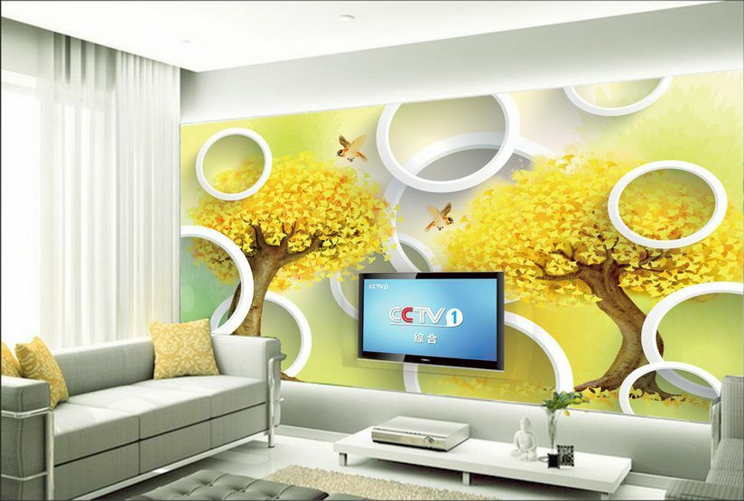 3D Gelb Bird Tree Art 204 Paper Print Decal Wall Deco Wall Murals AJ WALLPAPER