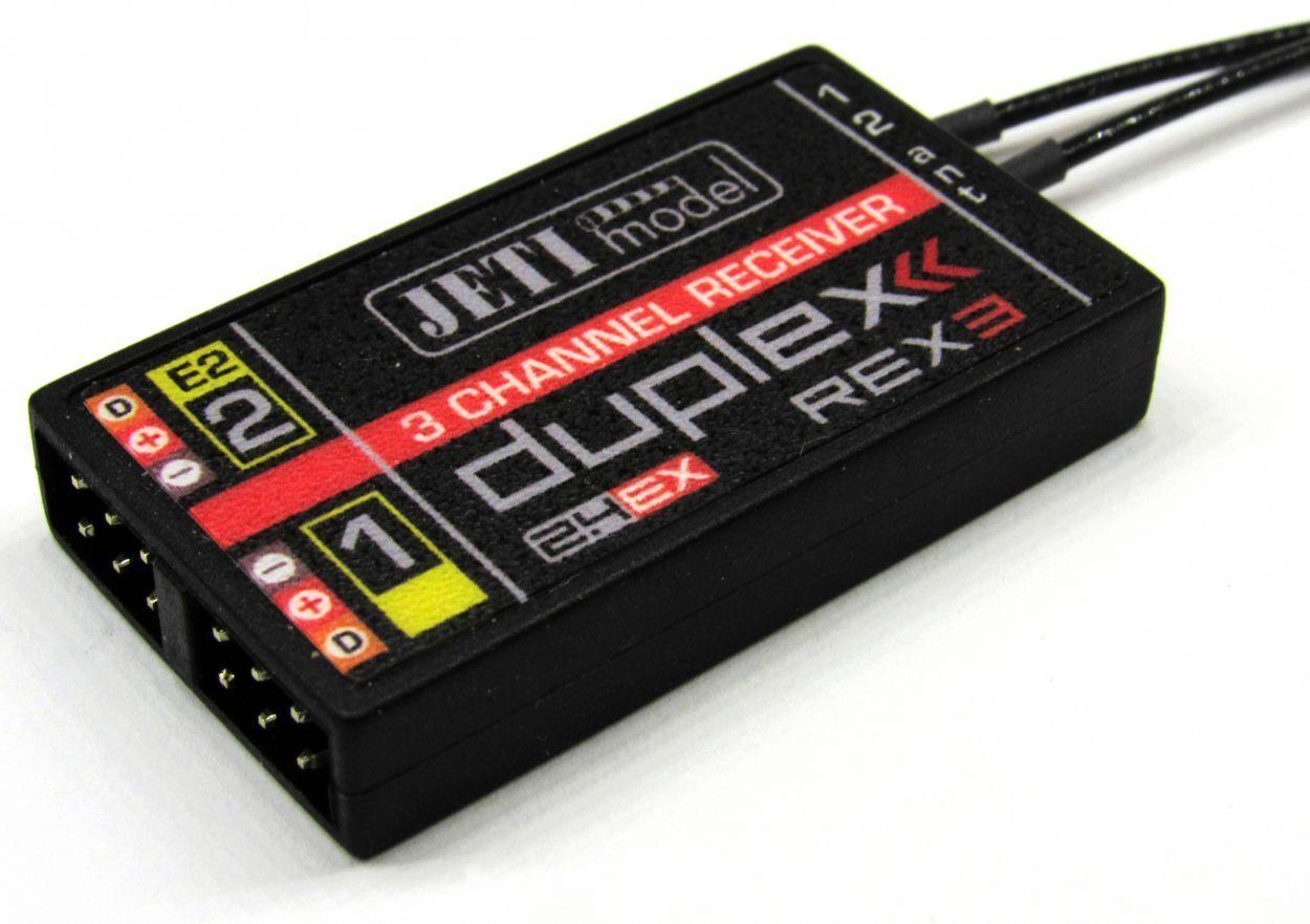 Jeti  Ricevitore Duplex 2.4EX REX3 20cm Antenna senza Sperrtopf JDEX-RR3-A20-JP  benvenuto a scegliere