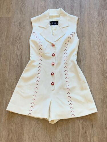 Vintage Nicole Miller Party Suit Baseball Theme