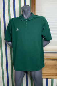 Adidas-Men-s-Clima-Cool-Tennis-Golf-Polo-XL-Green-Triple-Stripe-Short-Sleeve