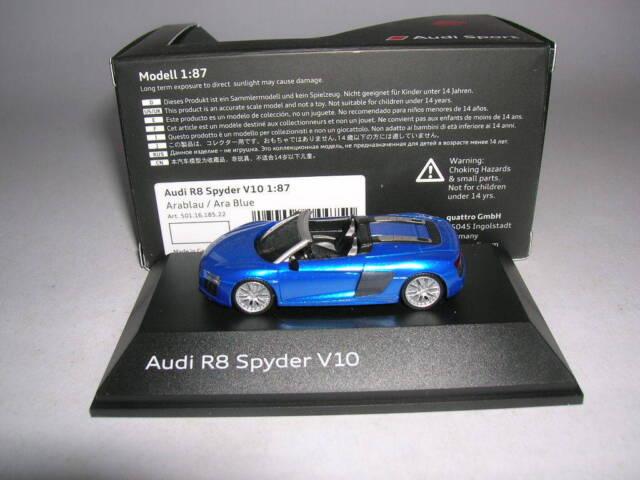 Herpa AUDI r8 SPYDER v10 arablau//Ara Blue 5011618522 1:87 h0 art