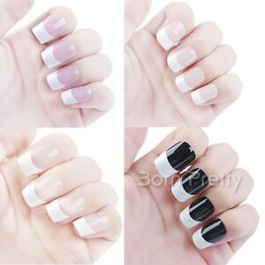 1 Bag Full Acrylic Nail Nagel Tips Ku00fcnstliche Fingernu00e4gel French Tips