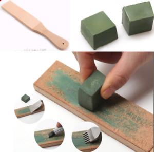 Leder Holzgriff-Werkzeug-Doppelseitige Polnische Verbindung Schärft Nett #fsj