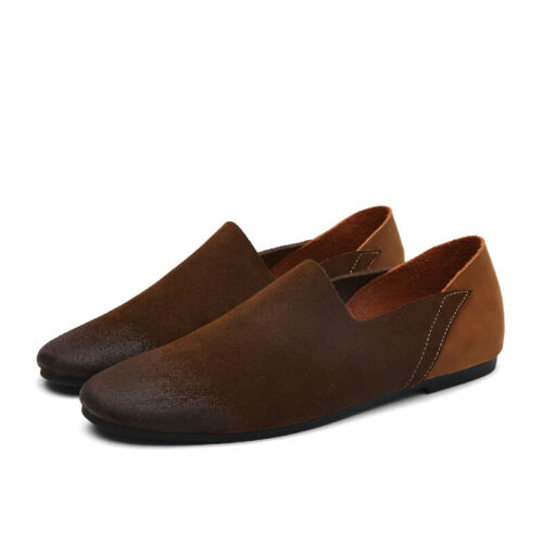 Retro Mens Leisure Faux Leather Shoes Driving Moccasins Pumps Slip on Loafers L