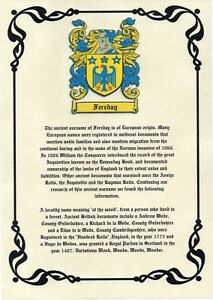 Heraldry-Coat-Of-Arms-amp-Surname-Origin-A4-Print-Most-British-Names-Available