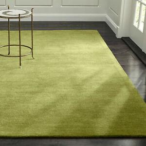 Area Rug 5' x 8' Baxter Bronze Green Hand Tufted Crate and Barrel Woollen Carpet
