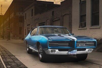 Pontiac GTO Hardtop Old Muscle Car 24x36 Art Poster