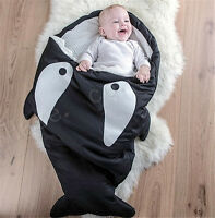 Cartoon Children Shark Reserved Port For Garden Cart Cotton Blend Sleeping Bag