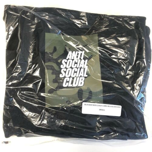 DS Anti Social Social Club ASSC Camo Box Logo Black Hoodie in hand supreme Bape