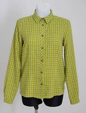WOMENS JACK WOLFSKIN SHIRT OUTDOOR LONG SLEEVED GREEN CHECKED SIZE 12/14 VGC