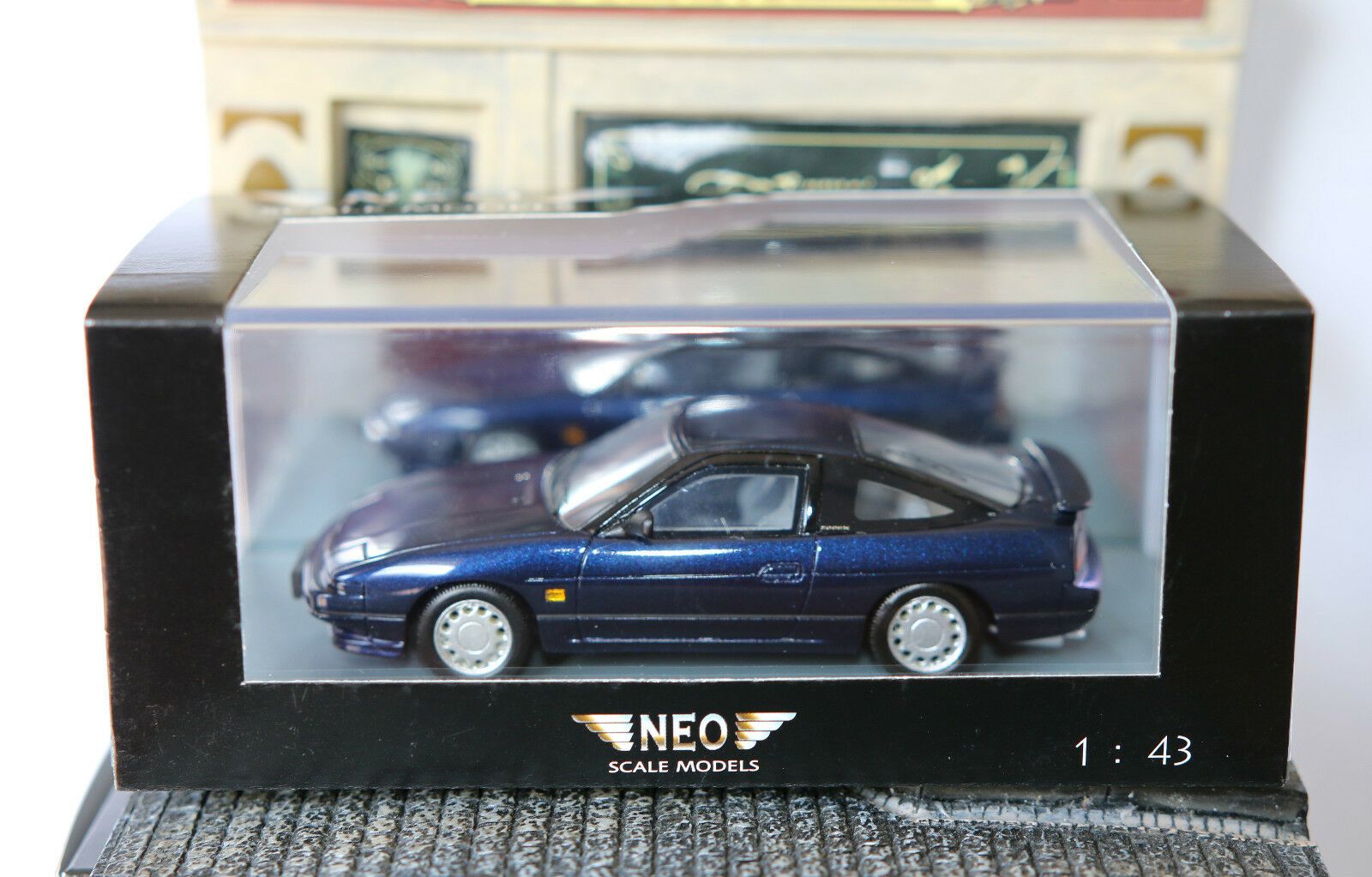 Nissan 200sx s13 metall dunkelblau 1991 neo - 44527 1   43 unerläßlich linksgelenkten blau