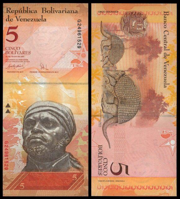 Billete de 5 Bolivares de Venezuela