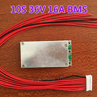 10S 36V 37V 16A BMS LiPo Cell Li-ion BMS Battery 18650 Protection PCB Board KK
