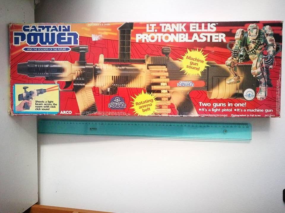 CAPTAIN POWER LT. TANK ELLIS ProjoONBLASTER TWO GUNS IN ONE  FONDO DI MAGAZZINO