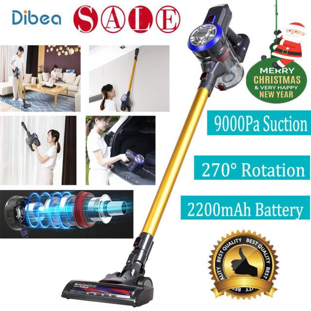 Dibea D18 9000Pa Elettrica Scopa Aspirapolvere Senza Filo senza sacco+Luce LED