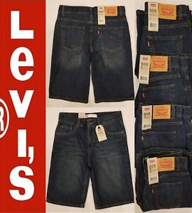 d8273dc32e9 Levis 505 Boys Regular Fit Denim Shorts Big Boy Dark Blue Husky 10H ...