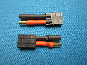 """Traxxas TRX Style Female High Current Lipo Battery Adapter 4/"""" 10awg Wire"""
