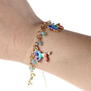 Cute-Colored-Unicorn-Horse-Charm-Handmade-Chain-Bracelet-Women-Girl-Gift