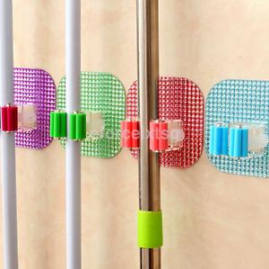 Durable Kitchen Mop Broom Holder Wall Mounted Organizer Brush Hanger Tool US