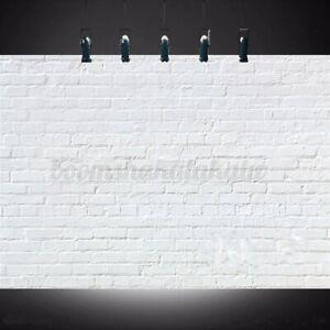 7x5FT-White-Retro-Brick-Wall-Vinyl-Studio-Backdrop-Photography-Photo-Background
