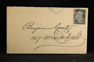 New York: Albany 1860s #93 2c Black Jack Cover, Drop Rate, Carrier CDS
