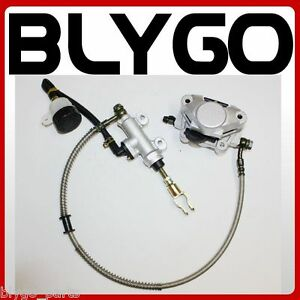 Hydraulic-Rear-Disc-Brake-Caliper-System-Pads-150cc-250cc-Quad-Dirt-Bike-ATV