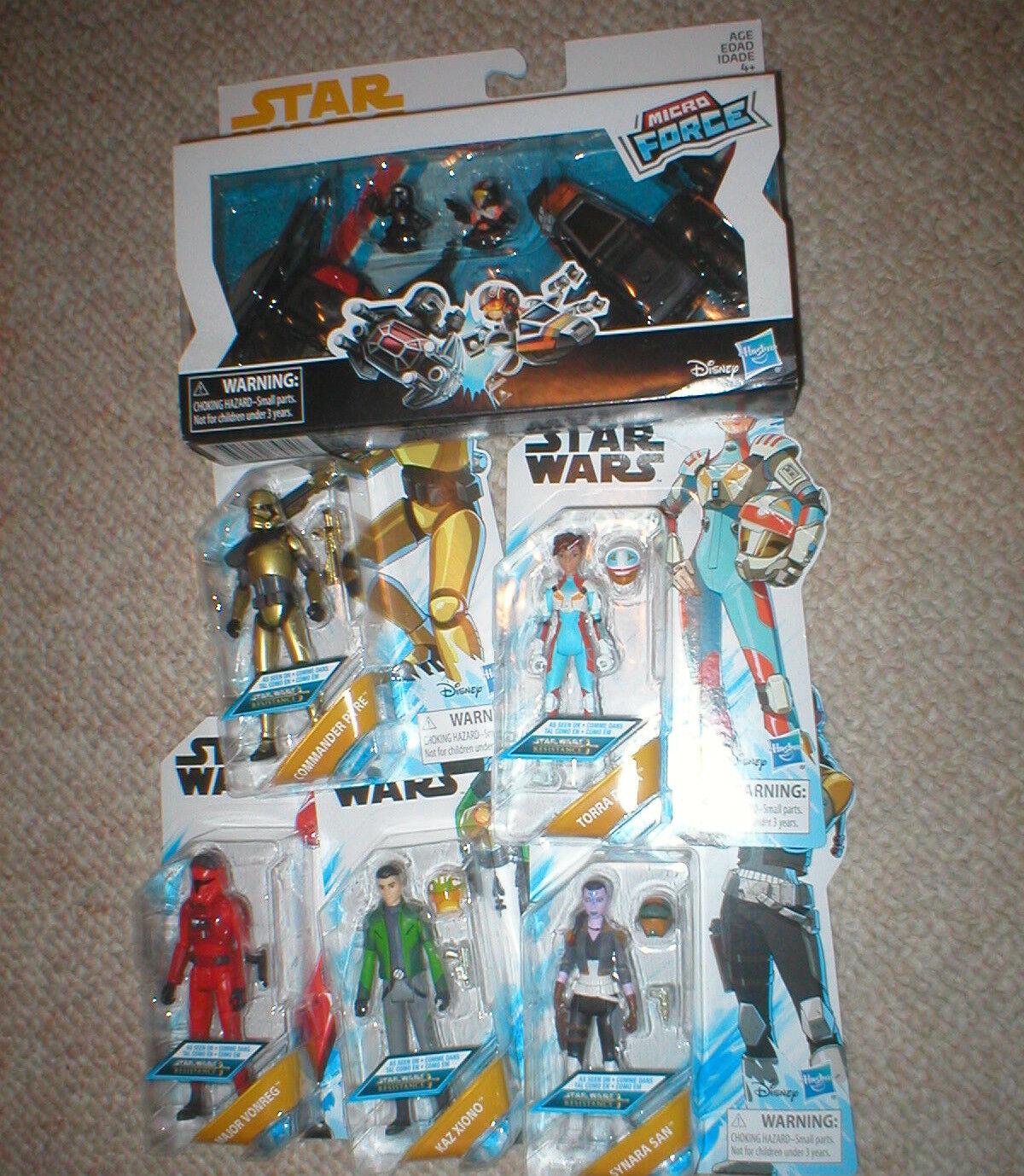 promociones emocionantes Estrella Wars Series animadas animadas animadas Lote de 5 figuras Plus conjunto de fuerza Micro, todos sin abrir  buscando agente de ventas