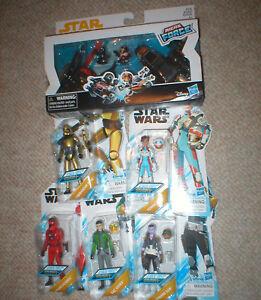 Série animée Star Wars - Lot de 5 figurines et micro-force, toutes non ouvertes