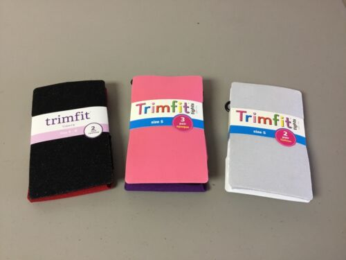 NWT 7 Pair Girl/'s Trimfit Tights Mixed Lot Size 4-6 Multi #160R