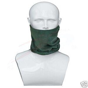Polar-Fleece-Neck-Warmer-Snood-Scarf-Hat-Unisex-Thermal-Ski-Wear-Snowboard-Green