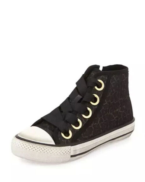 Ash Venus Sequined High-Top Sneaker, Black NIB