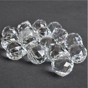 30mm DIY Faceted Crystal Glass Ball Chandelier Hanging ...