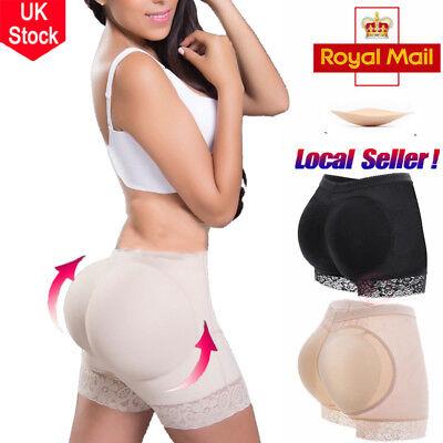 New Uk Padded Bum Pants Enhancer Shaper Butt Lifter Booty Boyshorts Underwear