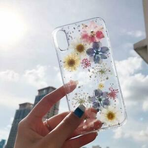 Glitter-Real-Dried-Flower-Soft-Clear-Phone-Case-Cover-For-IPhone-11-Pro-Pro-Max
