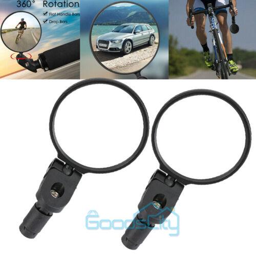2x Flexible Bike Bicycle Cycling Cycle Handlebar Glass Rear View Rearview Mirror