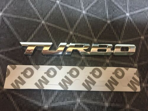 Turbo Metal Chrome Boot Tailgate Sticker Badge 3D Decal Emblem Top Stock