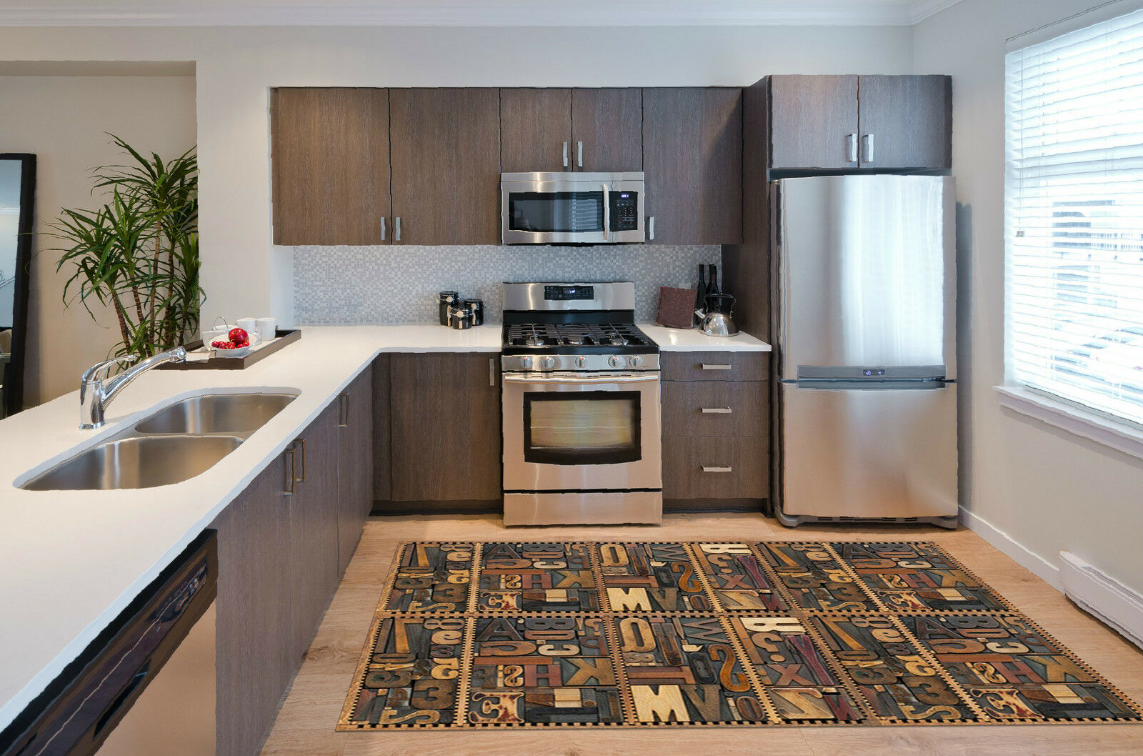 Stampe Da Cucina : 3d alfabeto numeri tappeto da cucina muro pavimento muro cucina