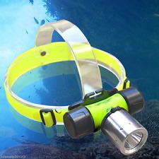 New CREE  T6 LED 1800LM Diving Swimming Waterproof Headlamp Headlight Head light
