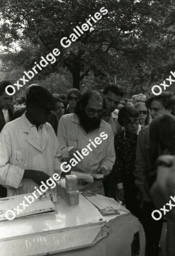 ALLEN GINSBERG BEATKNIK POETS Photo Neg WASHINGTON SQUARE PARK NYU 1966 Anti War