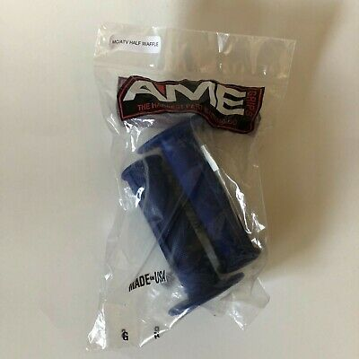 New AME Half Waffle Bicycle BMX Grips Old School BMX Made In The USA Grey Gray