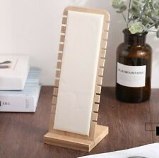 Elegant Jewelry Display Stand Leather Surface Necklace Pendant Chain Holder