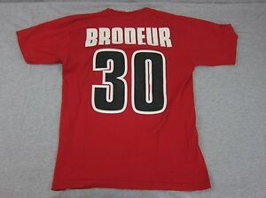 Majestic New Jersey Nj Devils Red T Shirt Martin Brodeur 30 Small