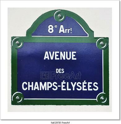 D Avenue Des Champs-Elysees In Paris Art Print Home Decor Wall Art Poster
