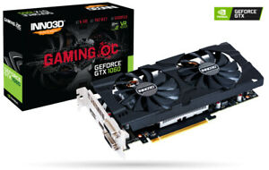 Grafikkarte NVIDIA GeForce GTX 1060 6GB Inno3D Gaming OC GDDR5X , Retail