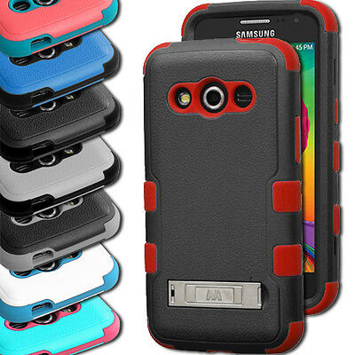 For Samsung Galaxy Avant  Hybrid Hard Protective Tuff Case Cover w/Stand G386T