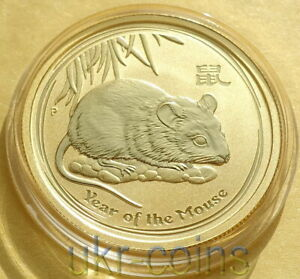 Australia $1 Dollar 2008 Lunar Series II Mouse Rat 1 oz .999 Silver Coin 5