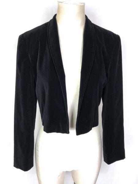 100% De Calidad Vera Mont Paris Vintage '70 Giacca Donna Velluto Velvet Woman Jacket Sz.m - 44
