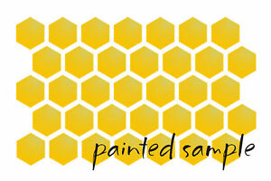 Image Is Loading Honeycomb STENCIL Country Primitive Bee Pattern Summer Garden