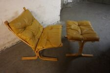 Ingmar Relling Westnofa 60s 70s Leather Chair , Ledersessel Sessel Midcentury